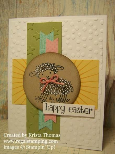 Easter Lamb, Stampin' Up! by Krista Thomas, www.regalstamping.com