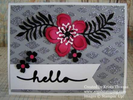 Heat & Stick Stenciling Technique & Tutorial by Krista Thomas, www.regalstamping.com