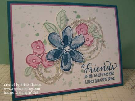 Swirly Scribbles & Garden in Bloom, by Krista Thomas, www.regalstamping.com