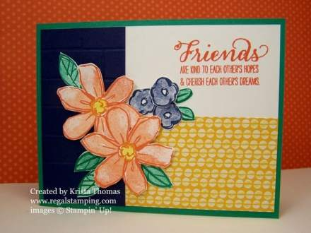 #GDP055, PCC212, Garden in Bloom by Krista Thomas, www.regalstamping.com