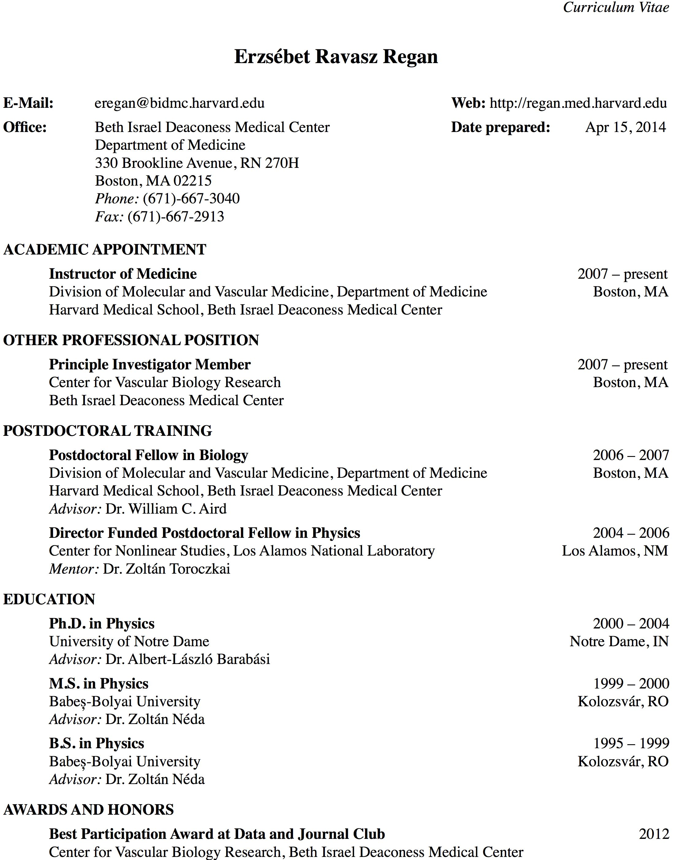 harvard medical school cv template harvard universitys website curriculum vitae pdf