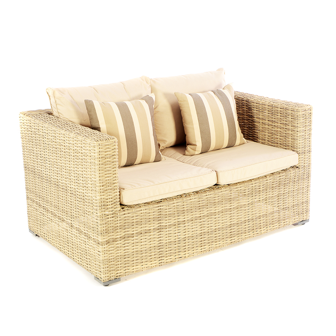 Garden Sofa Two Seater Kensington Deluxe Lounge Two Seater Sofa Low Back