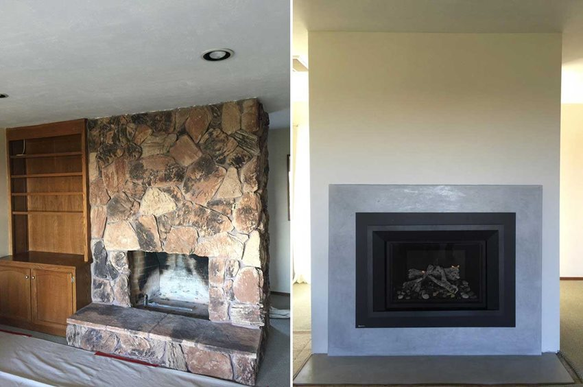 Fireplaces With Stone Surrounding 10 Fireplace Makeover Ideas Before And After