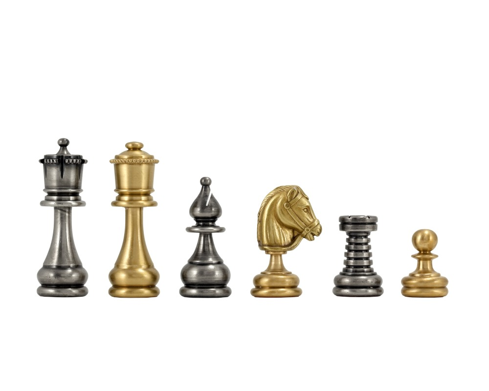 Gold Chess Pieces Verona Series 2 75 Inches Brass And Nickel Chess Pieces