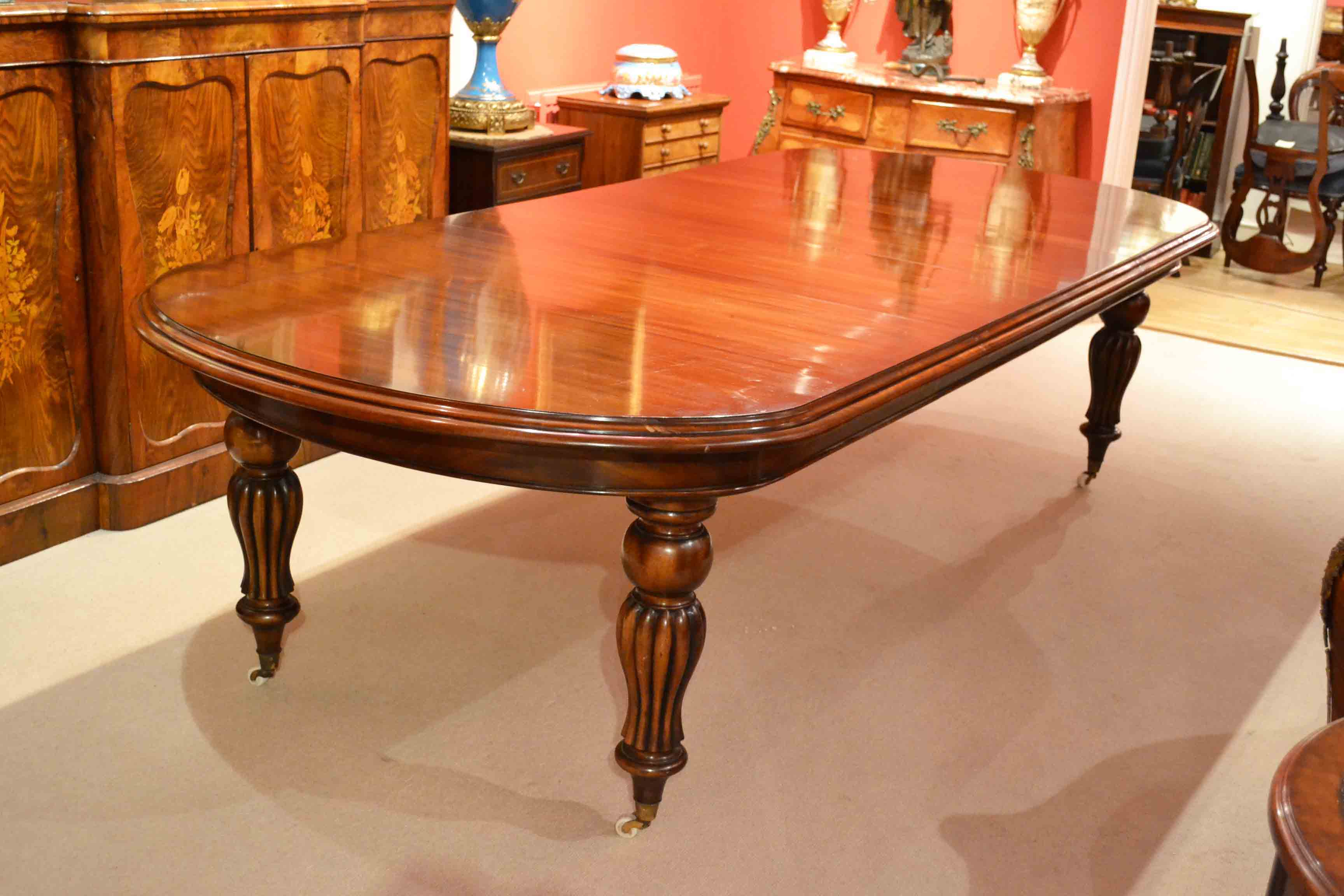 10 Foot Dining Table Vintage 10 Ft Victorian Mahogany Dining Table 2 Leaves