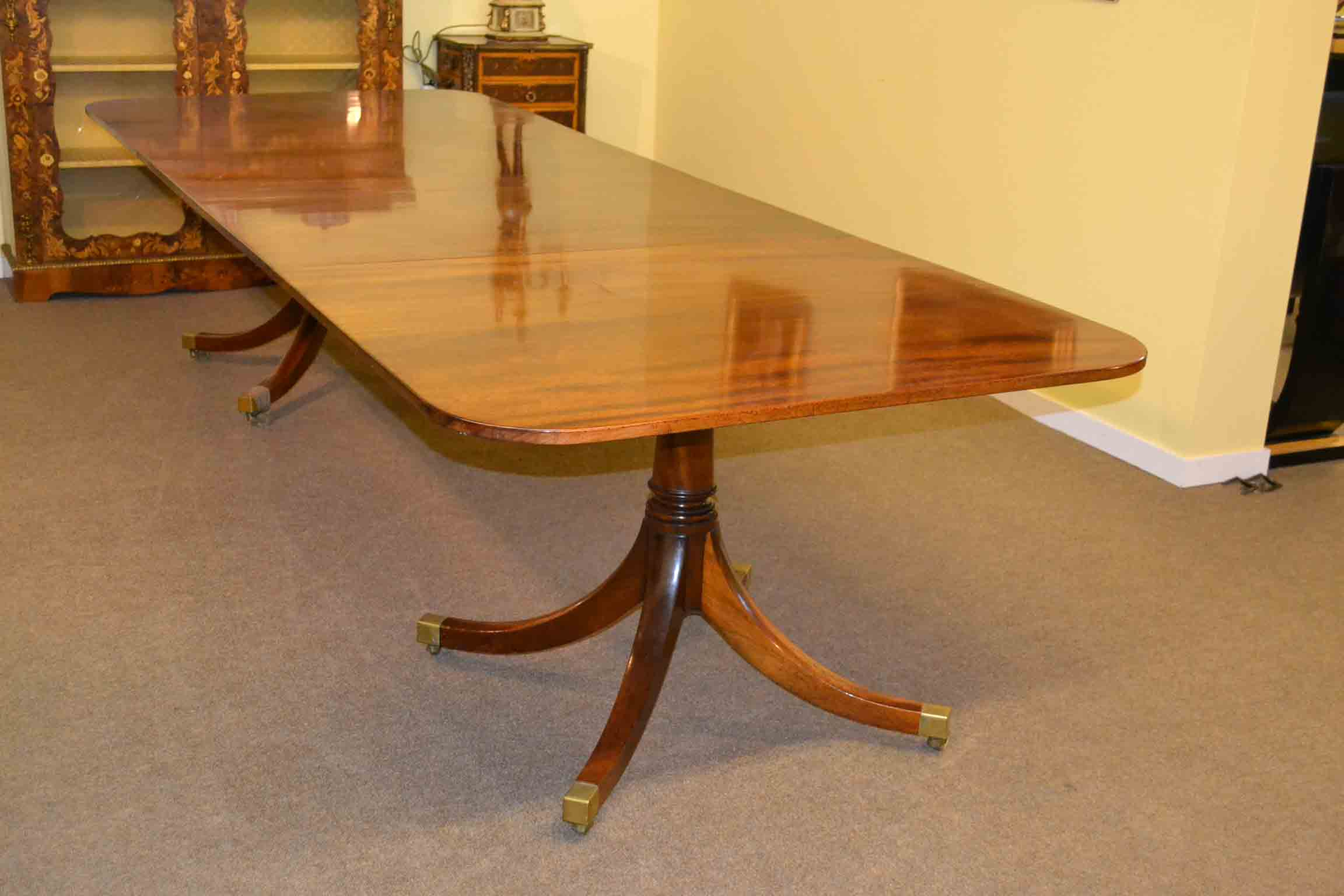 10 Foot Dining Table Antique Regency Mahogany Dining Table 10 Ft Twin Pillar