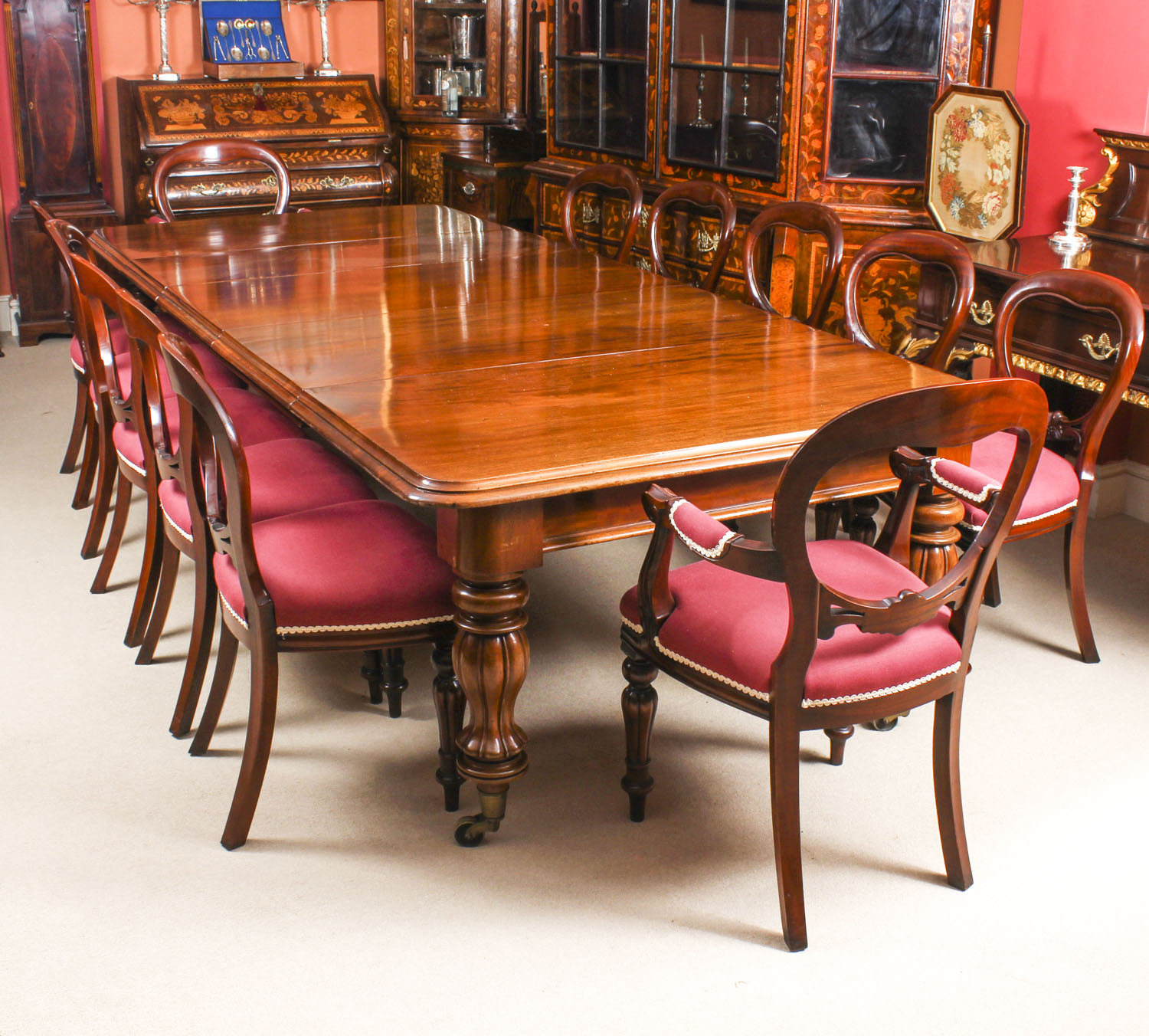 10 Foot Dining Table Antique 10 Ft Flame Mahogany Dining Table C1840 And 12