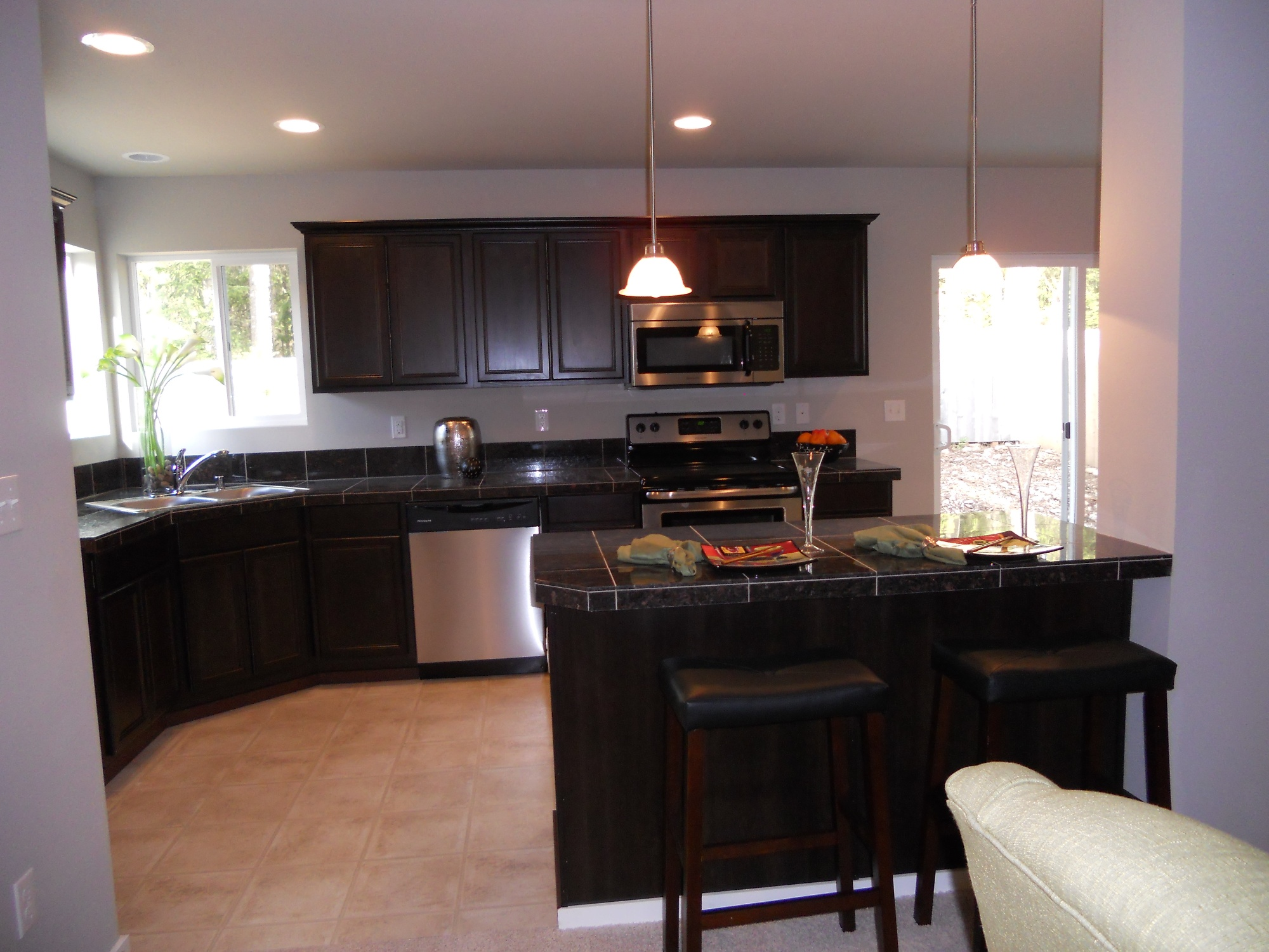 Dark Countertops With Dark Cabinets Foxbury Park Regent Homes