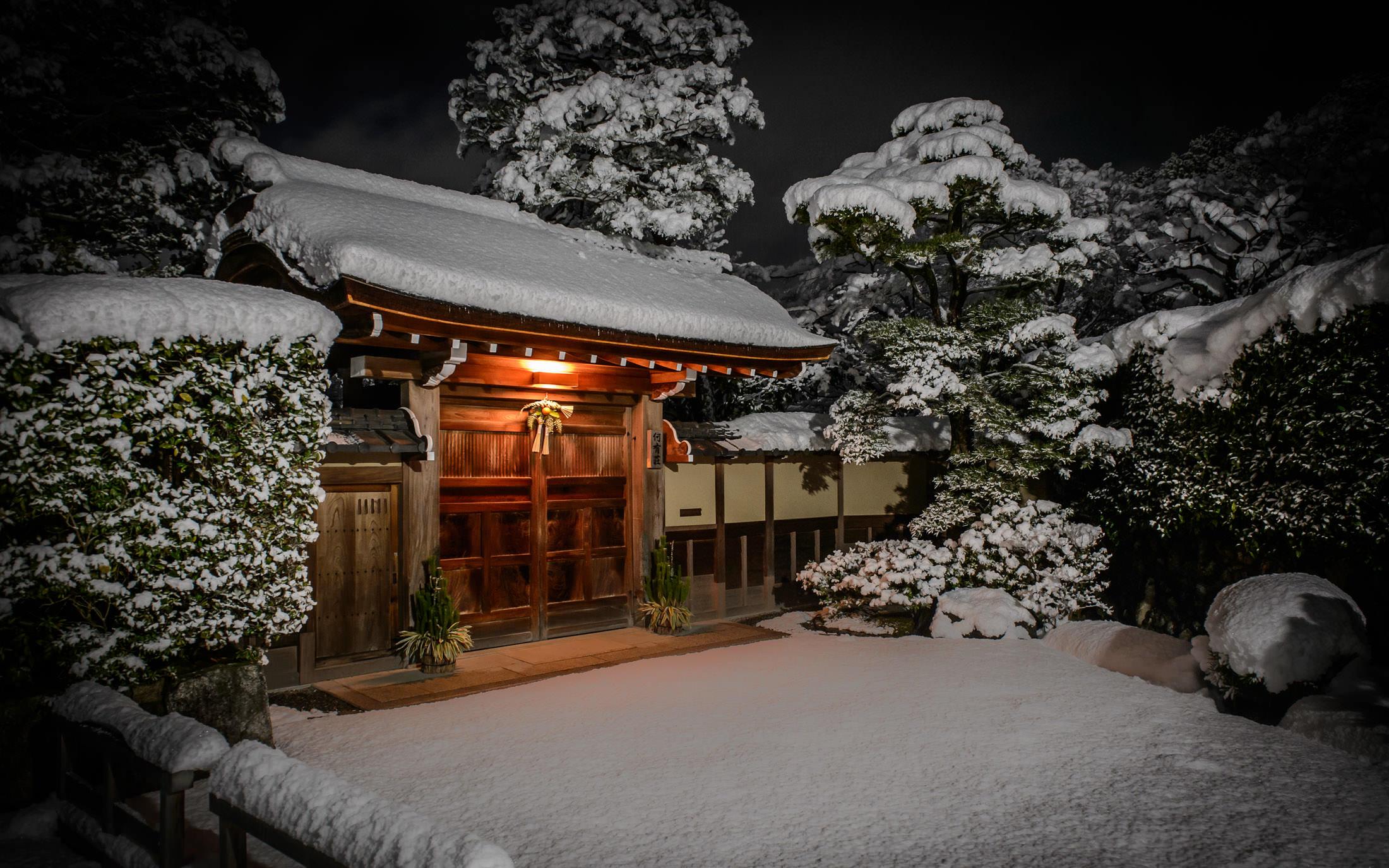 Snow Falling Desktop Wallpaper Jeffrey Friedl S Blog 187 Kyoto At Night During A Heavy Snow