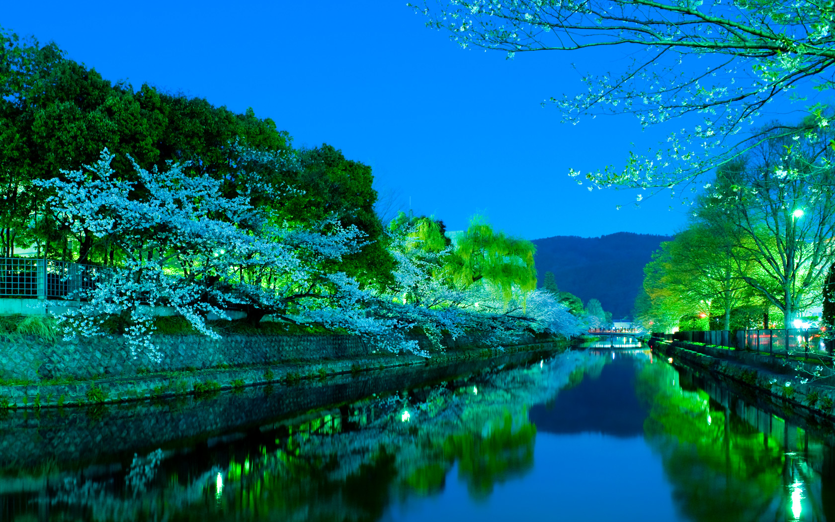 Fall Dual Monitor Wallpaper Jeffrey Friedl S Blog 187 Evening Cherry Blossoms And Some
