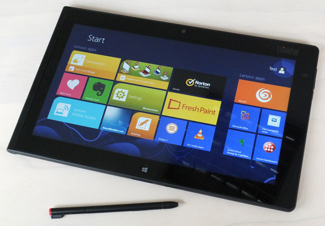 Tablett Modern Review Lenovo Thinkpad Tablet 2 The Register
