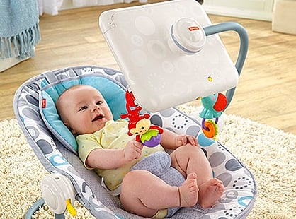 Fisher-Price in hot seat iPad bouncy chair lets APPLE BABYSIT tots