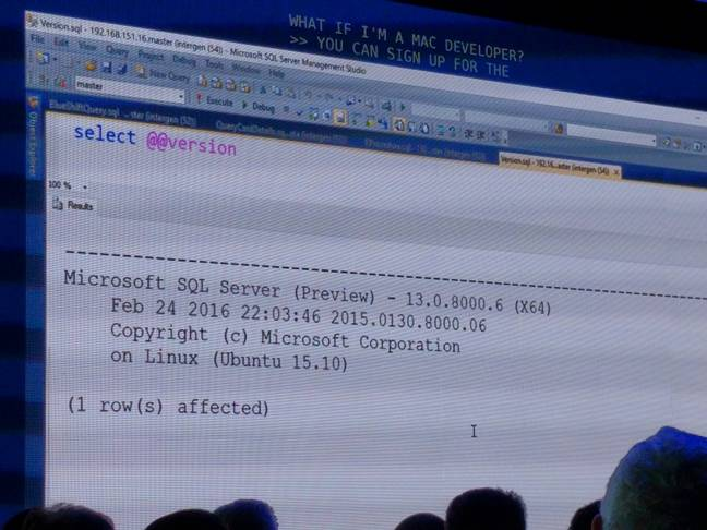 Behold, Microsoft SQL Server on Linux \u2013 and a firm screw-you to