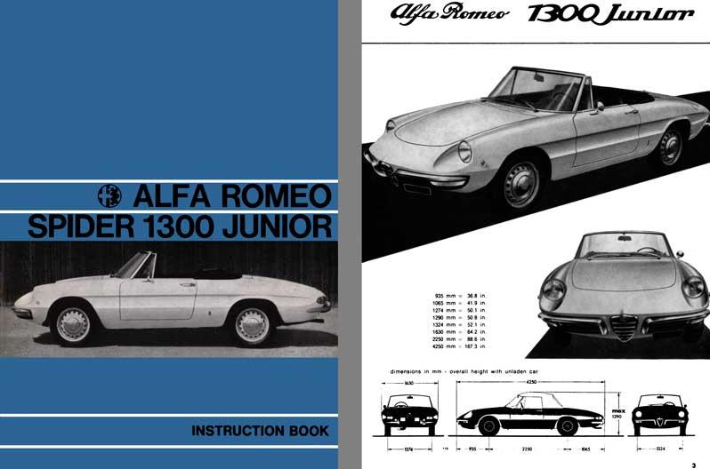 Alfa Romeo 1968 - Alfa Romeo Spider 1300 Junior Instruction Book eBay