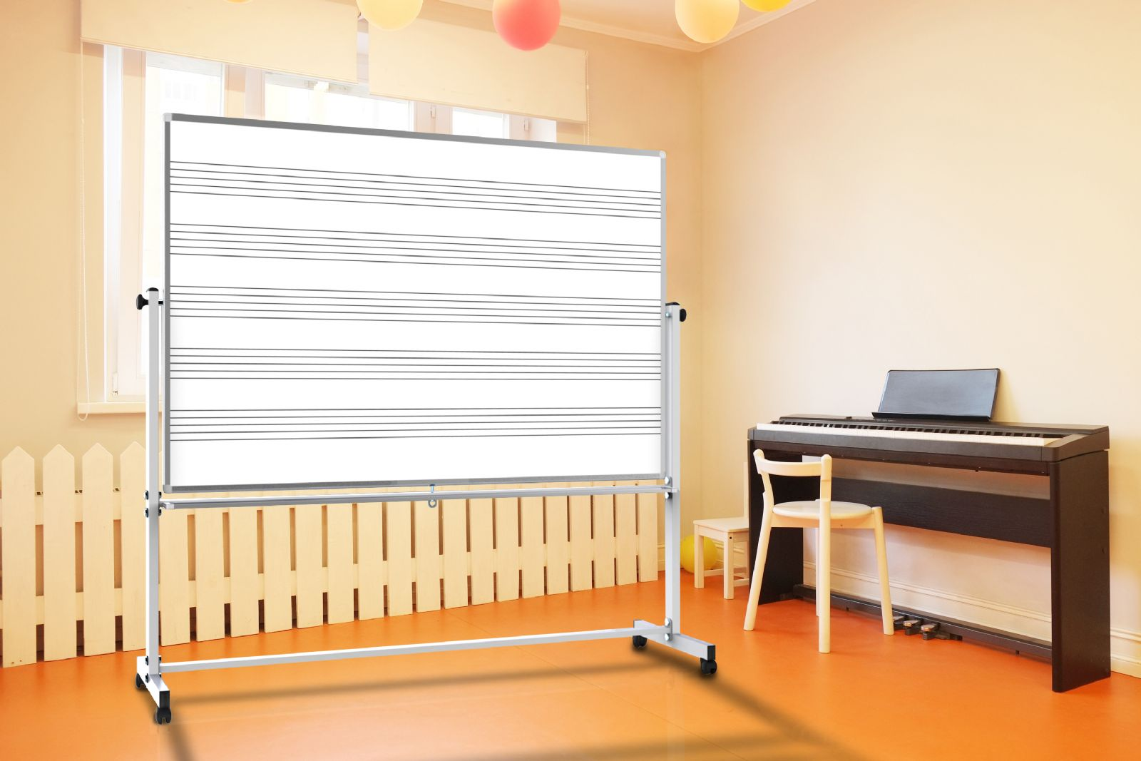 How To Turn A Wall Into A Whiteboard Magnetic Music Whiteboards With Music Staff Lines