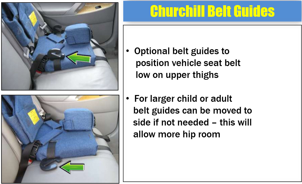 Car Seat Headrest Churchill Backless Booster Seat : Pediatric Special Needs
