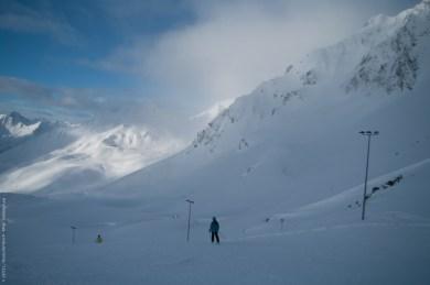 Blick vom Hochalter im Skigebiet Kühtai