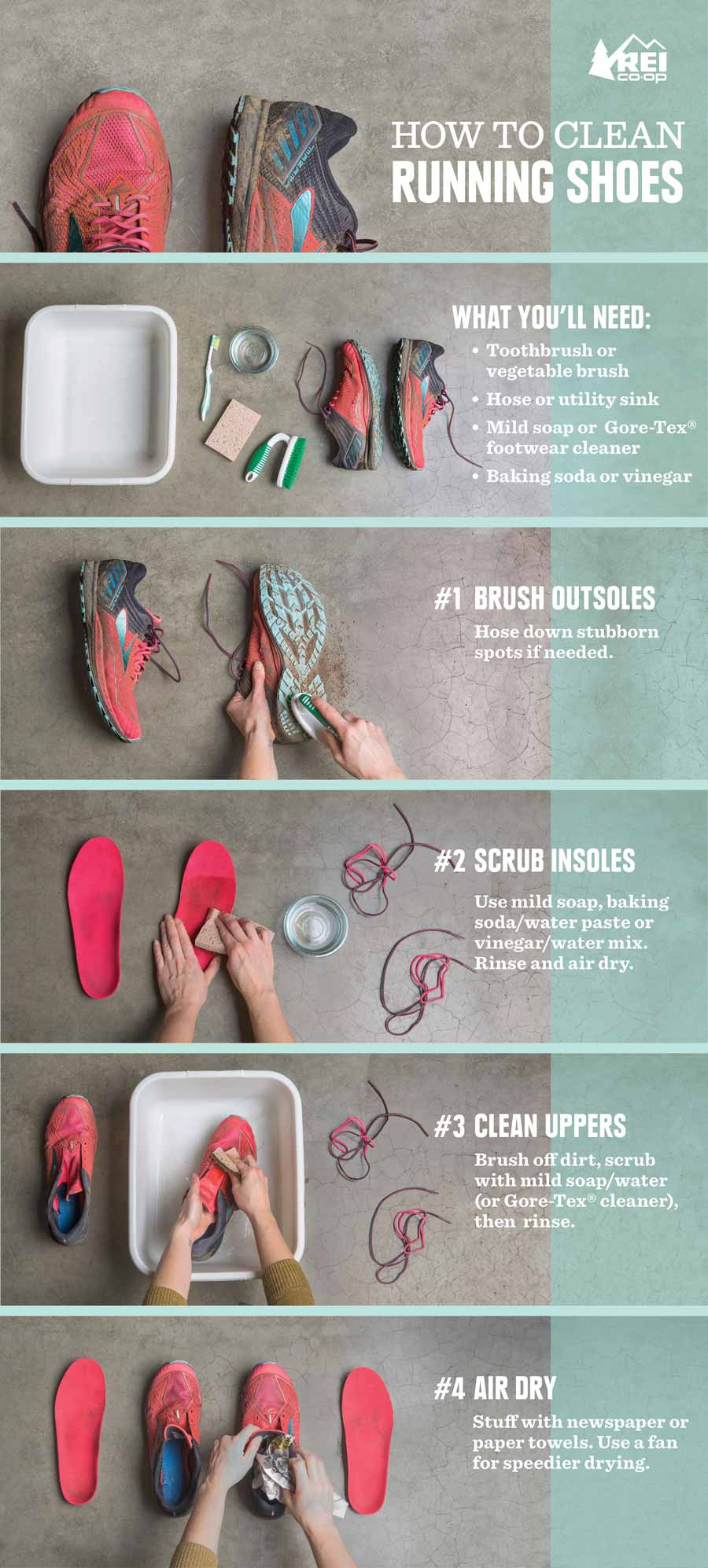 How To Clean Running Shoes Rei Co Op