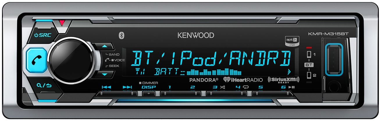 Kenwood Boat Bluetooth CD Radio/Wired Remote,Cover,Antenna,65