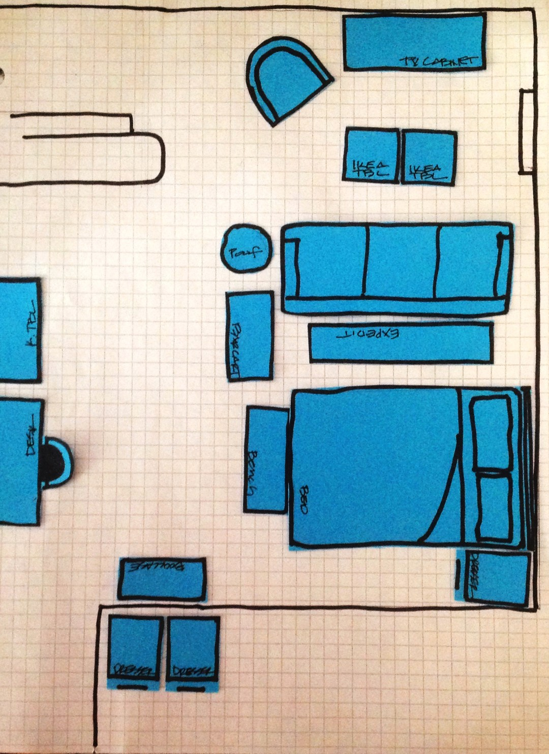 studio apartment layout blueprint