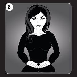 Reiki Hand Position 8