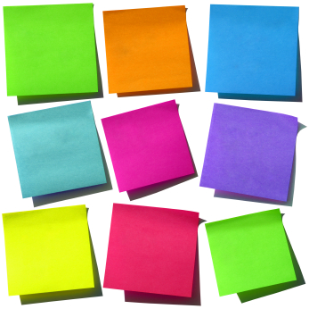 sticky notes Reinventing Myself - stickey notes