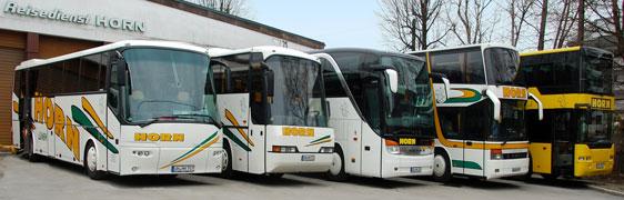 Die Busse des Reisedienst Horn