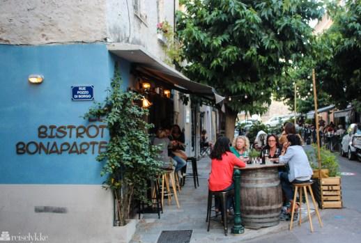 Restaurant i Ajaccio, Korsika