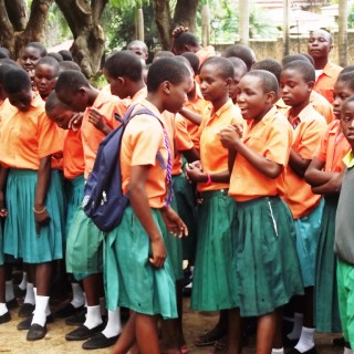 Primary school pupils in Embu County awaiting to participate in a walk against FGM, which is being done secretly despite major  campaigns against the vice. [Picture: Robert Nyagah]