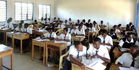 Students studying in a class in Magarini Sub-County. Devolution has improved accessibility to education in the area. [Picture: Courtesy]