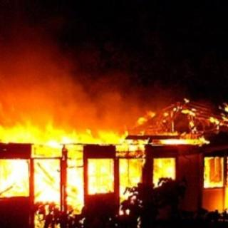 One of the many schools that have gone up in flames. Photo Courtesy