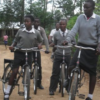 Girls in Siaya, Uasin Gishu and Kakamega counties have benefited from free bicycles that are meant to reduce their walk to school and prevent early pregnancies. Picture:Courtesy World Vision