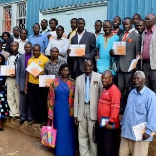 Kibera Inter Faith Peace Forum members after a peace workshop. Picture: Odhiambo Orlale