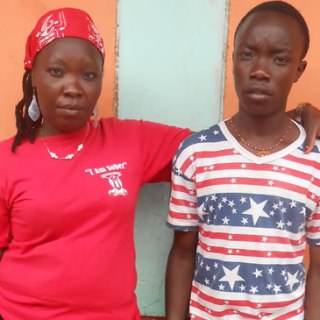 Faiza Wanjiru and her 19-years-old son  Masoud Kimani. Wanjiru has been stuggling with drug abuse and sold her son immediately after birth. Picture: Grace Mwangi
