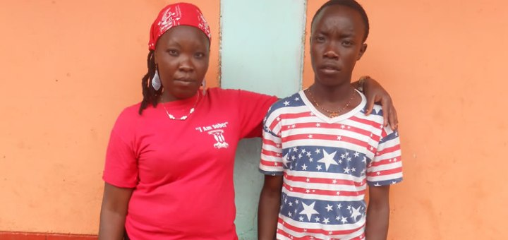Faiza Wanjiru and her 19-years-old son  Masoud Kimani. Wanjiru has been stuggling with drug abuse and sold her son immediately after birth. Picture: Grace Mwangi