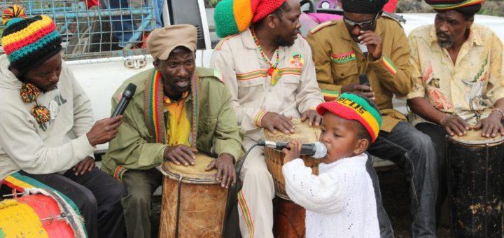 A young member of Rastafarians religion in Nakuru joins his parents in singing Rastafarians religious reggae music at KITI Estate in Bahati constituency Nakuru County. Picture:Ben Ali
