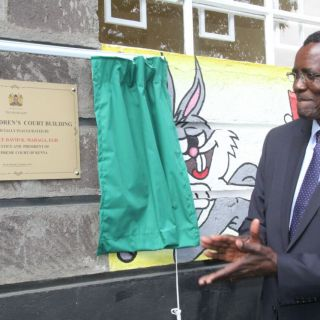 Chief Justice David Maraga opens children court in Nakuru. Picture: Courtesy