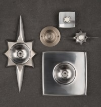 Mid-Century Star Doorbell Button | Rejuvenation