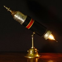 Vintage Thermos Rocket Ship Lamp | Rekindled Lighting