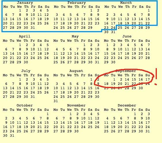 Julian Calendar Chart  Julian Date Calendar