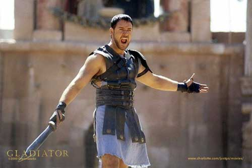 russel crowe ridley scott gladiator training