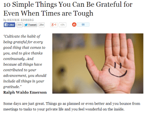 10 Simple Things You Can Be Grateful for Even When Times are Tough