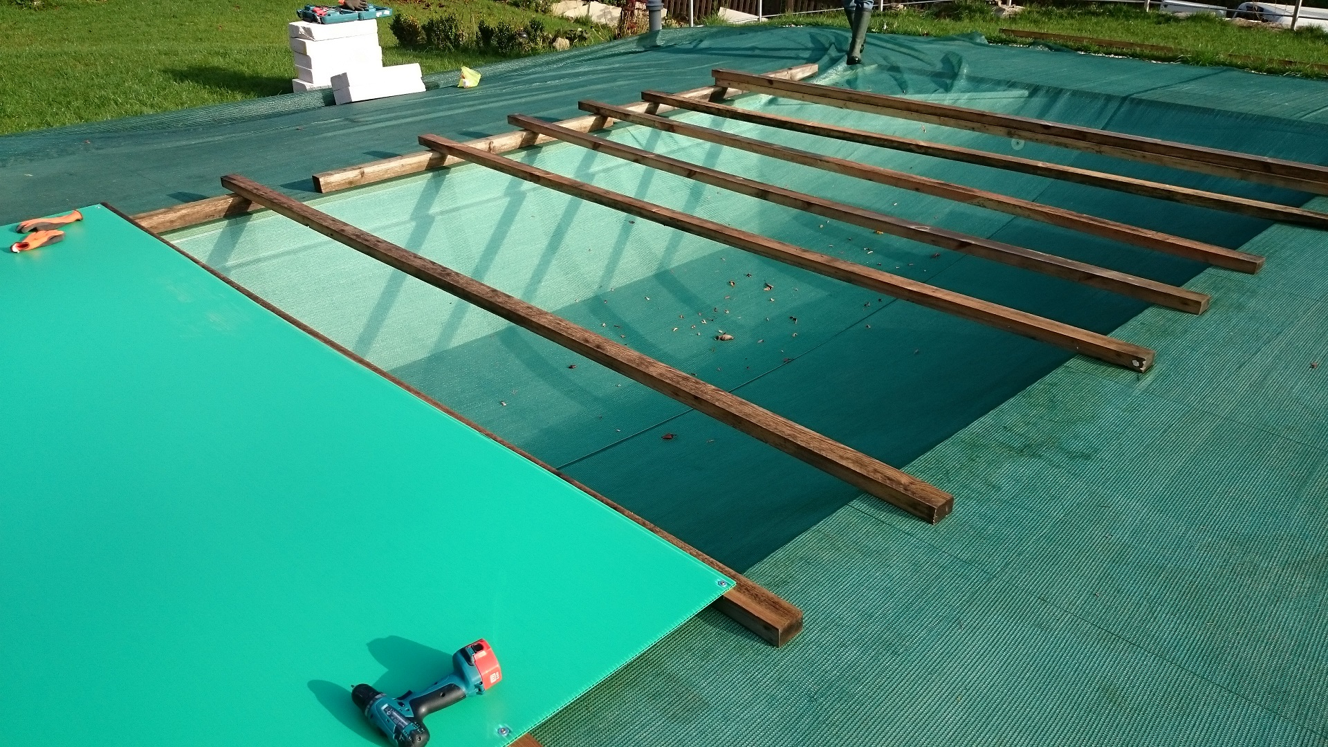 Poolabdeckung Platten Klebefolie Rele Austria International