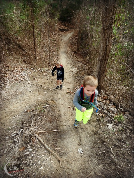 kids on trail