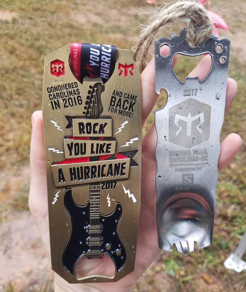 Ragnar Trail Carolinas Hurricane Medal