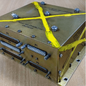 Box shaped gold colored metal Analog Controller for Electro Hydraulic Actuator