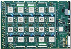 A green circuit board of FPGA prototyping