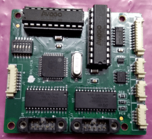 A green color circuit board of control PCB for lens control unit​