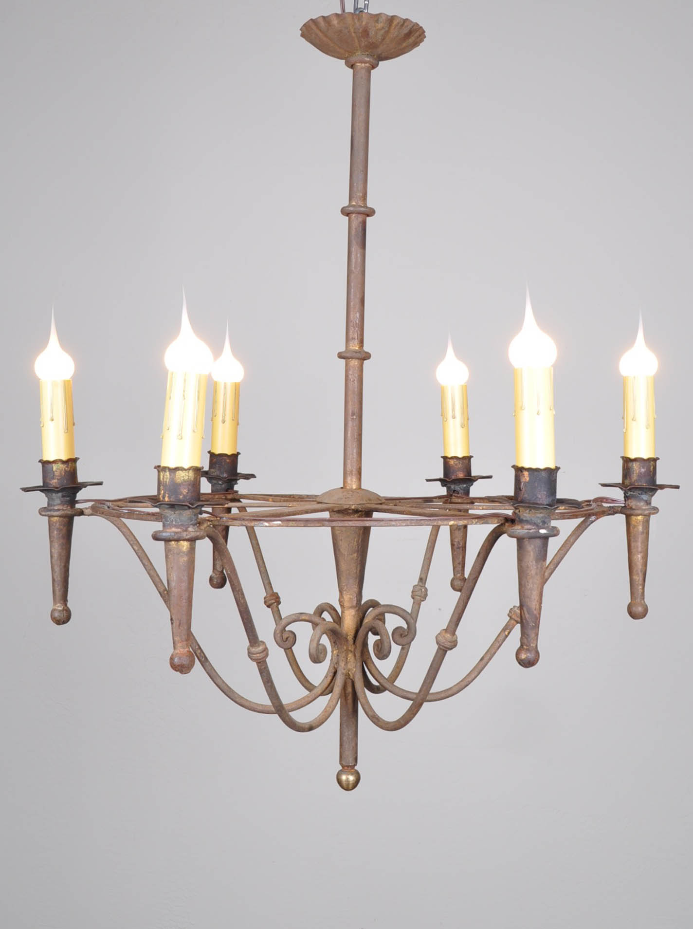 Spanish Chandelier Vintage Spanish Hand Forged Iron Chandelier
