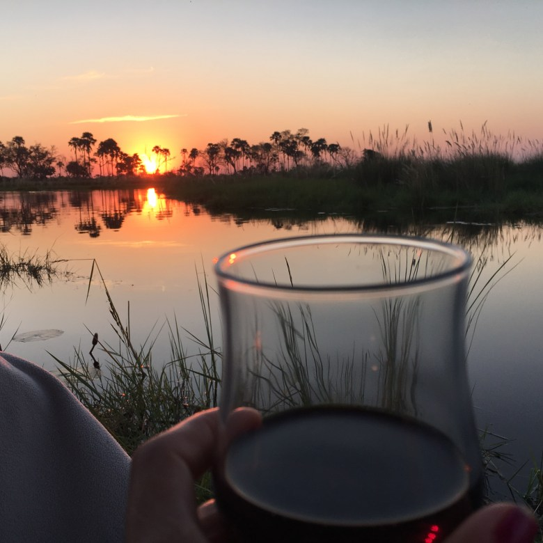 Sundowners at Baine's Camp